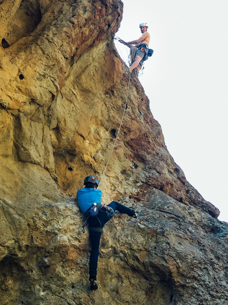 Lewis following up while I get some top-belay practice