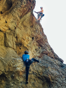 Rock Climbing Photo: Lewis following up while I get some top-belay prac...