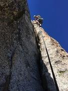 Rock Climbing Photo: Graham leading P3