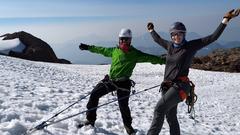 Rock Climbing Photo: Snow anchor building practice!
