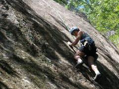 "Rock Climbing Photo: S Matz starts crux sequence of ""Life of Brian..."