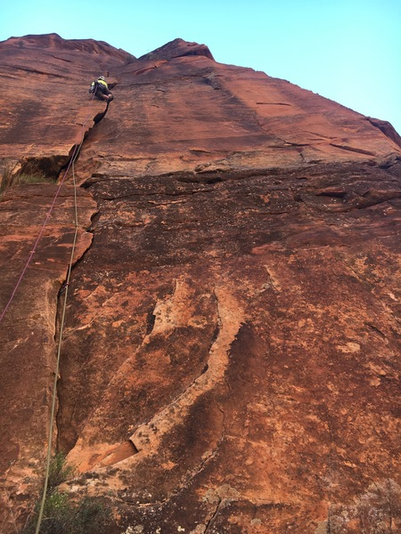 after the crux of pitch 2
