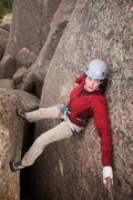 Rock Climbing Photo: Chimney topout.