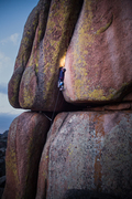 Rock Climbing Photo: Whipping Boy is the obvious right leaning wide cra...