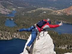 Rock Climbing Photo: Super windy day.