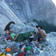 Rock Climbing Photo: Home on Pitch 8 for the night. Heading for the nex...