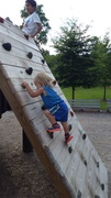 Rock Climbing Photo: The little man sends. Rusto @ 19 months old