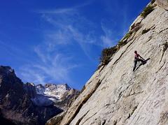 Rock Climbing Photo: The Gazelle having fun on Downtown Man (5.7)