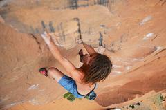 Rock Climbing Photo: matt freesoloing flakes of wrath
