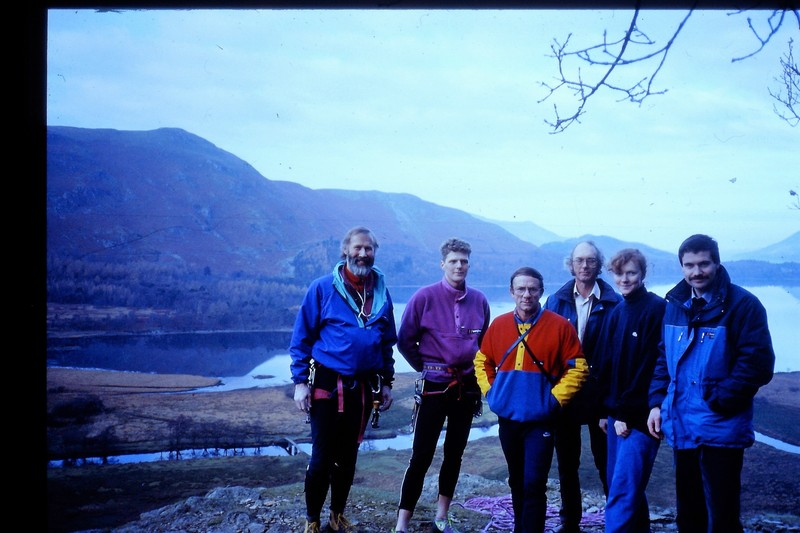 Group on top of Shepherds crag