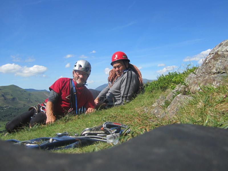 Rock Climbing Photo: Top of Black Crag