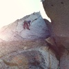 Kevin styling the 5.11 fingercrack on Pitch 2.