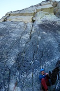 Rock Climbing Photo: Pitch 4 (last pitch). Can be done as one long (~65...