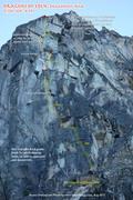 Rock Climbing Photo: Photo Route Overlay.