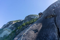 Rock Climbing Photo: Heading up P2 from the belay