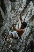 Rock Climbing Photo: Aldwin Ibanez starting up Three Stitches
