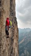 Rock Climbing Photo: Tom Michael on the 5.11 slab traverse.