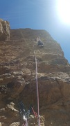 P3 X marks some rotten rock. Otherwise, hellof fun climb.