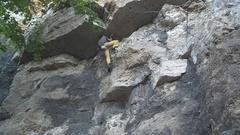 Brian climbing - 2016-10-22