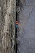 Rock Climbing Photo: Resting on Pratt's Crack. Photo by Maxwell Silver....