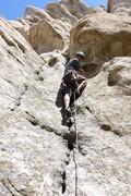 Rock Climbing Photo: Road to Shangri La, 5.7, somewhere nearby