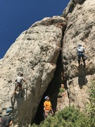 Rock Climbing Photo: Cleaning Hell or High Stepp'n and Team Effort