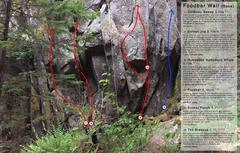 Rock Climbing Photo: Foodbar Wall (Photo and description from Adam Sult...