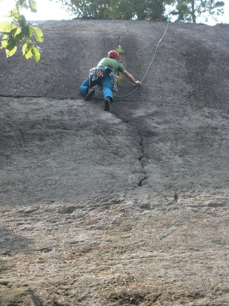 "RW on Blueberry Crack - we thought: ""If it's 5.7, it's ""ancient school 5.7"""