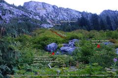 Rock Climbing Photo: Approach to Roan Wall.