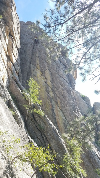Rock Climbing Photo: Angling, zig-zag crack