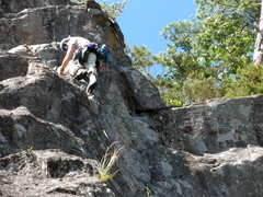 Rock Climbing Photo: S Matz on our P2, the left-side variant