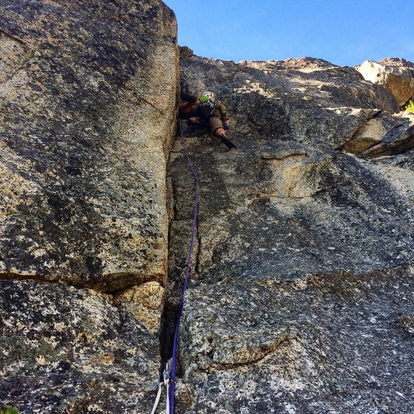Mat crushing the awesome 2nd pitch on the FA.