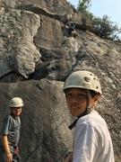 Rock Climbing Photo: Emile and Cyril watching Josh