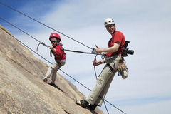 Rock Climbing Photo: The most effective way to teach the boys to lower ...