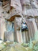 Rock Climbing Photo: Coming out of the chimney on the bouldery start of...