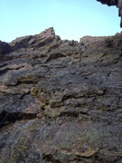 Rock Climbing Photo: The 2nd rap viewed from the 3rd rap station.  Long...