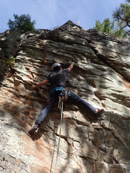 JG on the first ascent