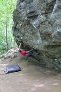 Rock Climbing Photo: Cave Overhang on a humid summer afternoon.
