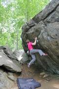 Rock Climbing Photo: The Iron Cross crux.