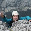 Eva Geraghty on the summit of Tenaya Peak