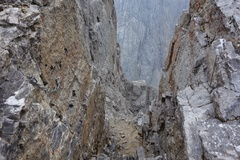 Rock Climbing Photo: Start of rappel route, just west and down from sum...