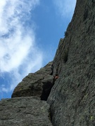 Rock Climbing Photo: The proper way to climb the flake.