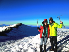 Rock Climbing Photo: Top of Rainier with the lady.