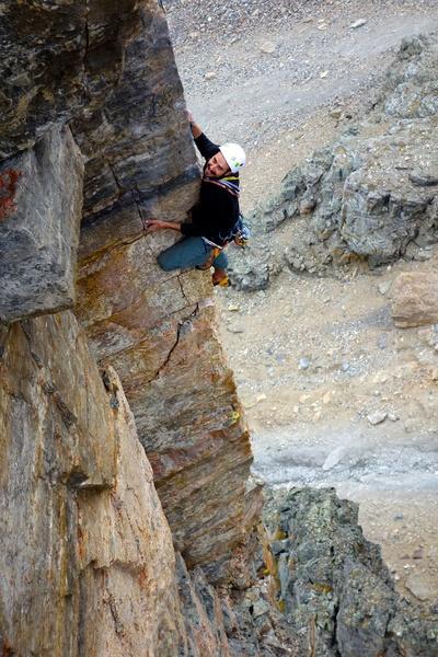 Climber on Cardiac Arete.