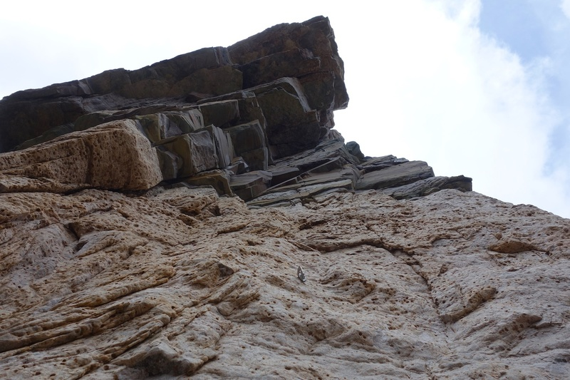 Rock Climbing Photo: Looking up Pitch 2.
