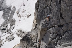 Rock Climbing Photo: Unknown party cruising the aesthetic fourth pitch ...