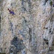 Rock Climbing Photo: Natasha Hodges, past the crux, loving the cruiser ...
