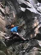 Rock Climbing Photo: Getting on the buffalo...