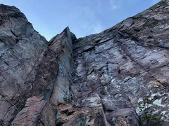 Rock Climbing Photo: Climb is in the corner the rope is coming from. Vi...