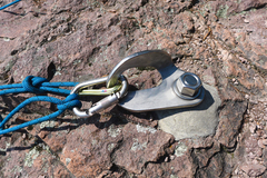 Rock Climbing Photo: Big daddy anchors top a few routes at Shovel Point